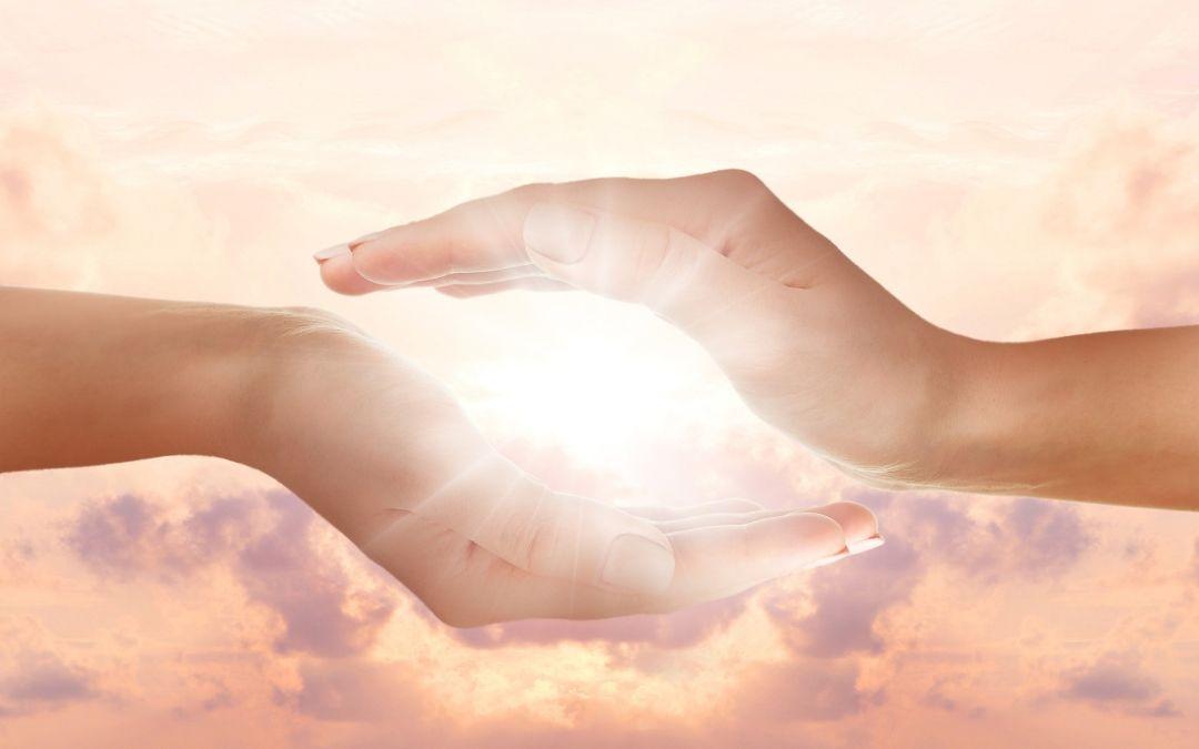 hands with orbit light