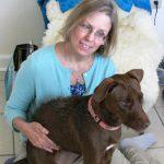 Kumari with dog, animal communication and energy healing