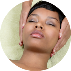 reiki energy healing on woman's head, reiki certification class level II